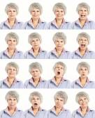 Elderly woman in differents moods — Stock Photo