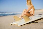 Surfer Girl  with  bodyboard — Stock Photo