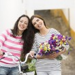 Happy friends smiling — Stock Photo #82908022