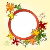 Colorful autumn leaves  background vector llustration — Stock Vector