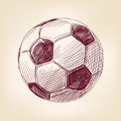 Soccer ball hand drawn vector llustration — Stock Vector