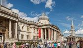 The National Gallery at Trafalgar Square — Stock Photo
