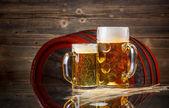 Still life of beer — Stock Photo