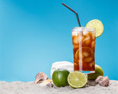 Iced sweet tea — Stock Photo