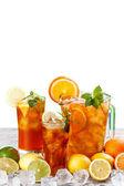 Glasses of ice tea — Stock Photo