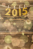 2015 golden figures — Stock Photo