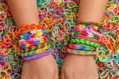 Rubber bracelets — Stock Photo