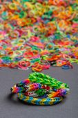 Colorful rainbow bracelet — Stock Photo