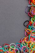 Loom rubber bands frame — Stock Photo