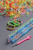 Rainbow loom bands — Stock Photo