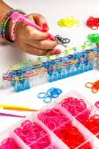 Rubber loom bracelet — Stock Photo