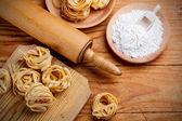 Pasta tagliatelle — Stock Photo