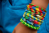 Loom bands bracelets — Stock Photo