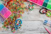 Rainbow loom bands — Stock fotografie