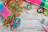 Rainbow loom bands — 图库照片