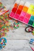 Loom bands — Stockfoto