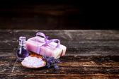 Lavender handmade soap  — Stock Photo