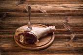 Raw turkey drumstick — Stock Photo