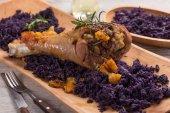 Roasted turkey drumstick — Stock Photo