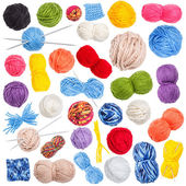 Collection of wool knitting — Foto de Stock