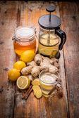 Ginger tea — Stock Photo