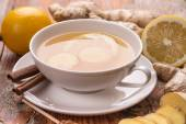 Tea with ginger — Stock Photo
