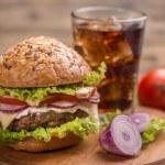 Big hamburger — Stock Photo #67957091