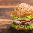 Big hamburger  — Stock Photo #67957269