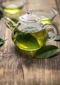 Glass teapot  — Stock Photo