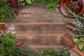 Freshly harvested herbs — Stock Photo