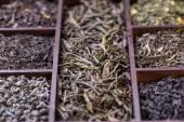 Foglie di tè asciutto — Foto Stock