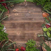 Green fresh herbs — Stock Photo