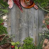 Herbs frame — Stock Photo