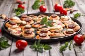Pizza snacks — Stock Photo