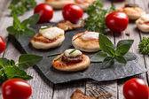 Mini pizzas — Stock Photo