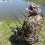 Man fishing — Stock Photo #76451357