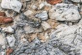Brick and stone wall detail — Stock Photo