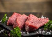 Beef steak slice — Stock Photo