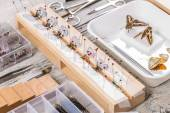 Butterflies and tools — Stock Photo