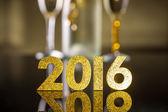 2016 year golden figures — Stock Photo