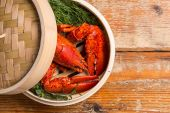 Steamed lobster — Stock Photo