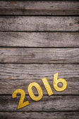Golden 2016 year number — Stock Photo