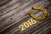 2016 year golden number — Stock Photo