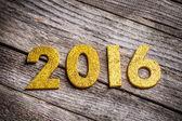 2016 written in golden figures — Stock Photo