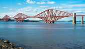 The red Forth railway bridge — Stock Photo
