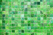 Green mosaic tiles — Stock Photo