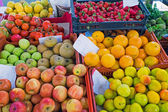Colourful fruits at a market — Stock Photo
