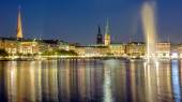 Hamburgo en la noche — Foto de Stock