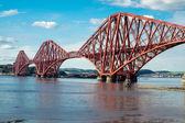 Forth railway bridge in Scotland — Stock Photo