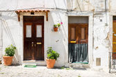 Two entrance doors in Lisbon — Stock Photo